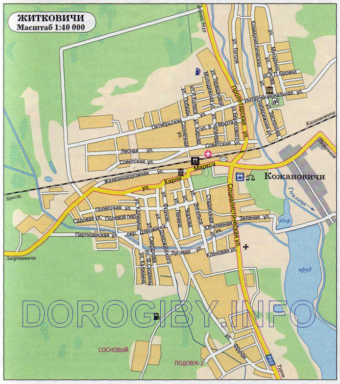 Карта Житковичей