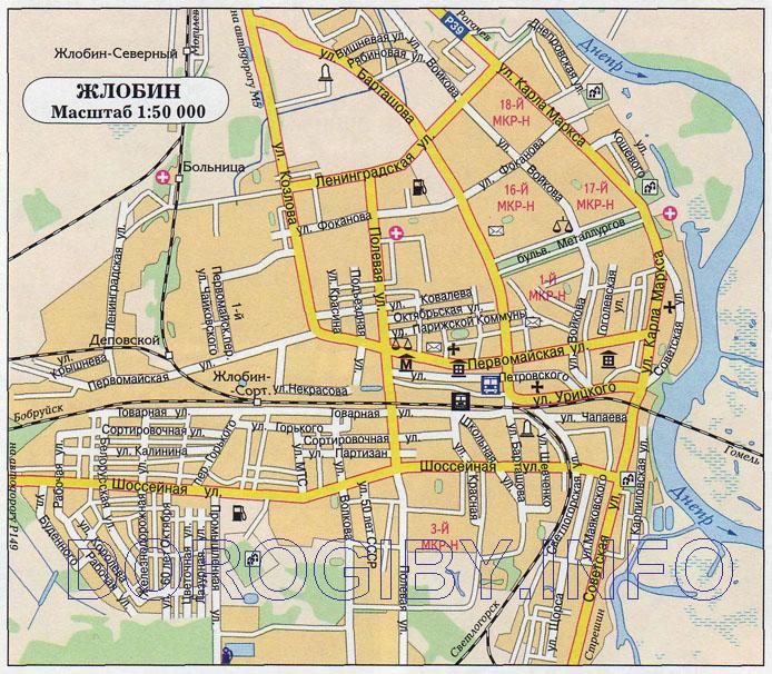 Карта Жлобина