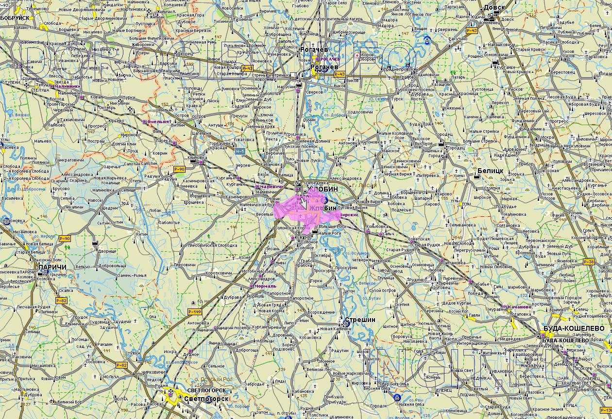 Карта Жлобинского района