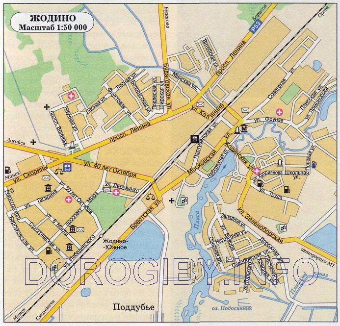 Карта Жодино